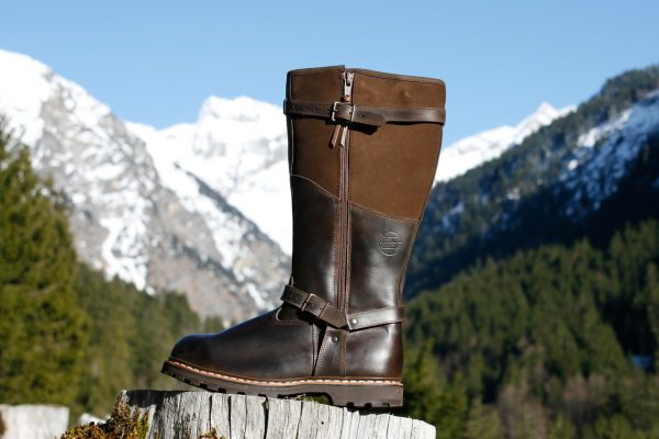 Han Wag Grizzly Winter Leder Lammfell Stiefel braun